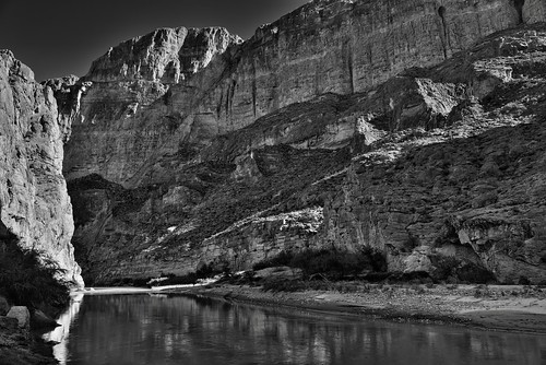 1200' Walls of the Boquillas Canyon (Black & White, Big Bend National Park) | by thor_mark 