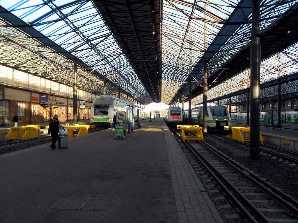 Хельсинки. Центральный вокзал.