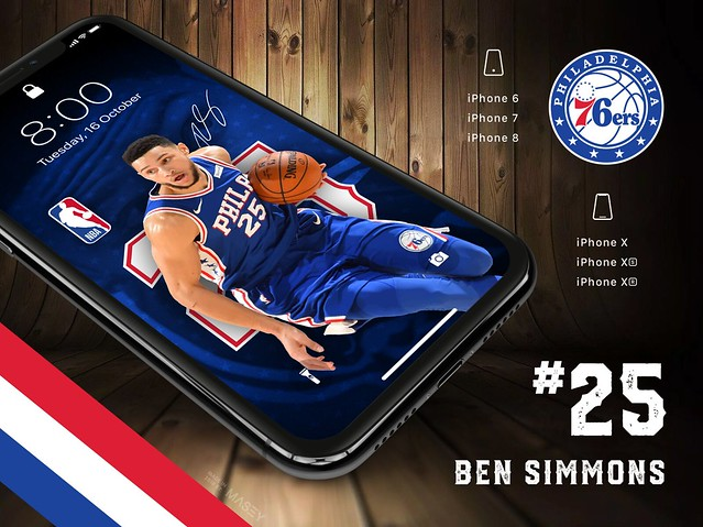 Ben Simmons (Philadelphia 76ers) iPhone Wallpaper