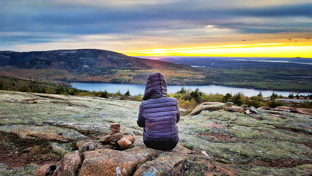 Sunset on Cadillac Mountain, Mount Desert Isle, Acadia National Park