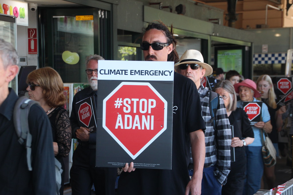 Climate Emergency Stop Adani - Funeral for our future - Melbourne - IMG_3573