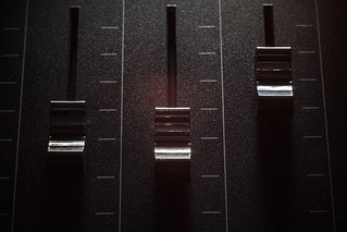 Faders of a Mixing Console | by dejankrsmanovic
