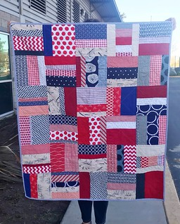"""Quilt for baby Grihma. 39""""x47"""". Fabrics from my stash"""