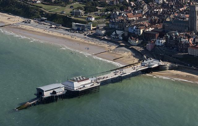 Cromer Pier aerial image