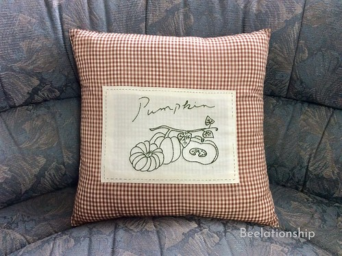 Pumpkin Cushion | by Beelationship Embroidery Studio