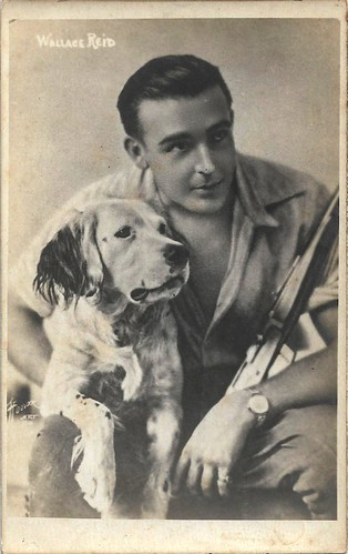 Wallace Reid and dog