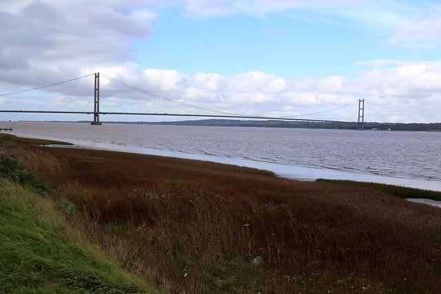 The Humber Bridge near Barton-upon-Humber
