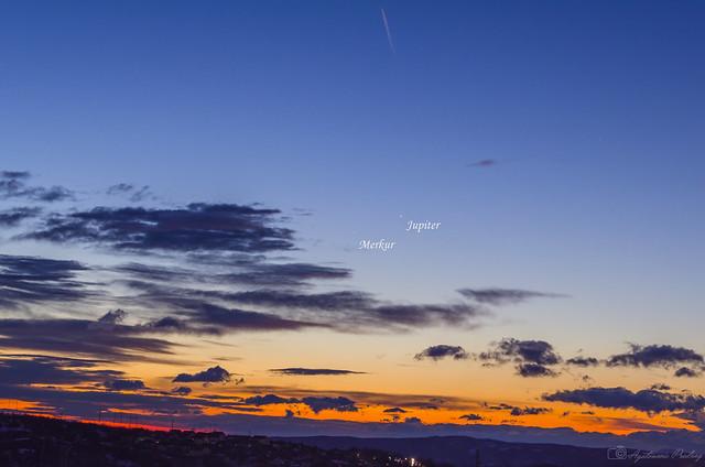Mercury and Jupiter