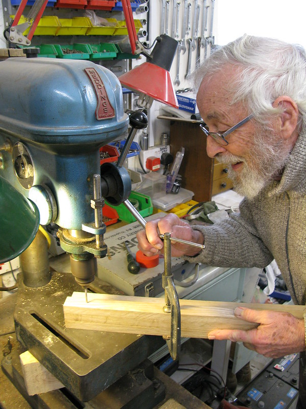 106. Building a Hebridean wind-vane self-steering system - cheers Dad - 3