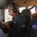 Lt. Col. Brett Grooms (left) and Capt. Brian Rawl perform a route evacuation flight this morning over Interstate 26 in South Carolina as part of the South Carolina Wing's preparations for Hurricane Florence. Grooms is the wing's homeland security officer; Rawl commands the South Carolina Legislative Liaison Squadron. Photo // Civil Air Patrol