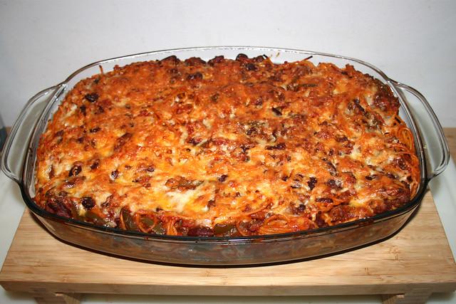 27 - Baked spaghetti with green pepper & kidney beans - Finished baking / Gebackene Spaghetti mit grüner Paprika & Kidneybohnen - Fertig gebacken