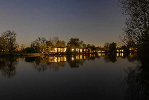 Houseboats in Vecht river
