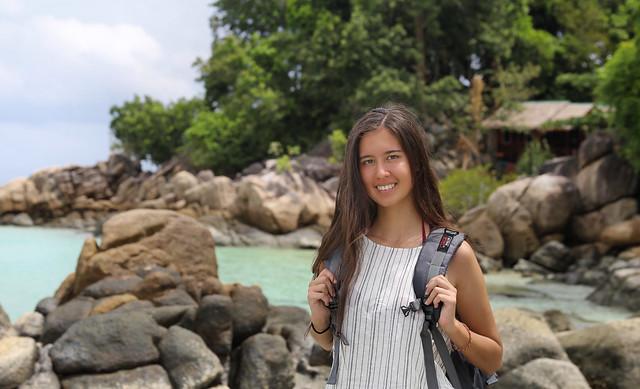 Samantha exploring paradise in the South Andaman Sea