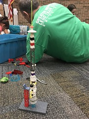 Spaceship! I built during the GMLTC Library Free Build at Hennepin County Golden Valley (MN) Library on July 21, 2018z