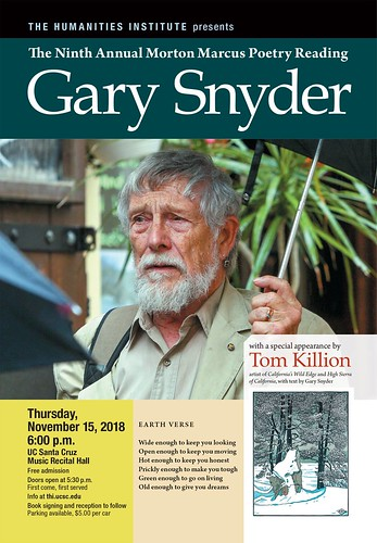 Morton Marcus Poetry Reading with Gary Snyder and Special Guest Tom Killion 11.15.18