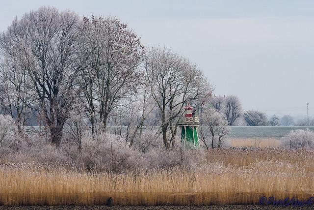 Little Lighthouse in Winter - Bunthäuser Spitze, Hamburg