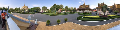 Royal Palace in Phnom Penh, Cambodia (Panarama of the grounds). | by One more shot Rog