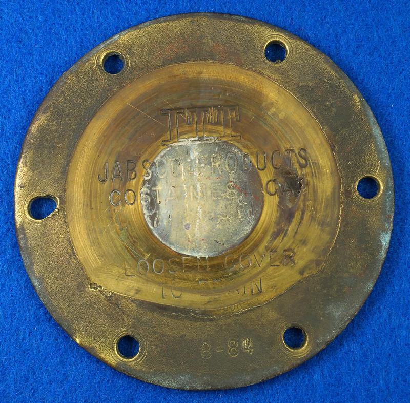 RD26699 Jabsco 2 inch Bronze Pedestal Pump Housing & Plate Only #18370-0000 DSC08788