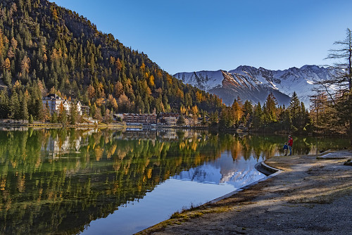 Champex Lac et Le Grand Combin . Canton of Valais , Switzerland. .Izakigur 14.11.18, 11:10:18. | by Izakigur