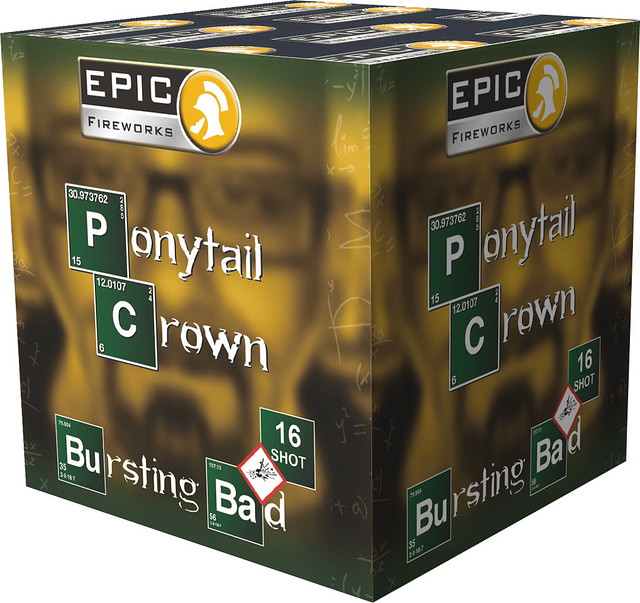 Ponytail Crown - Bursting Bad Series - Epic Fireworks