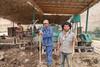 Workers in Tajik brick factory by damonlynch