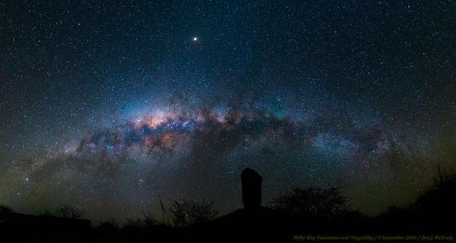 Milky Way Panorama over Vingerklip