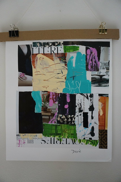 Abstract Mixed Media collage 347