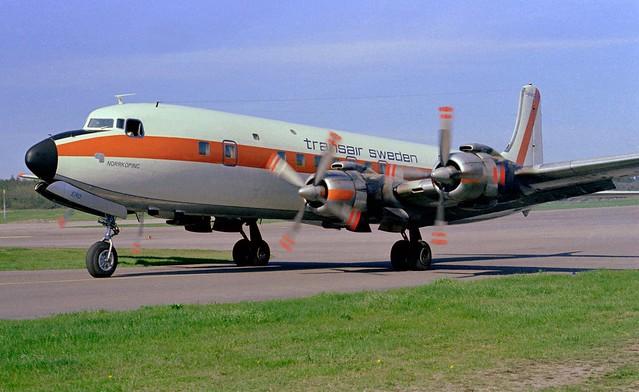 SE-ERD Douglas DC-7B BMA 19690524 kjell nilsson