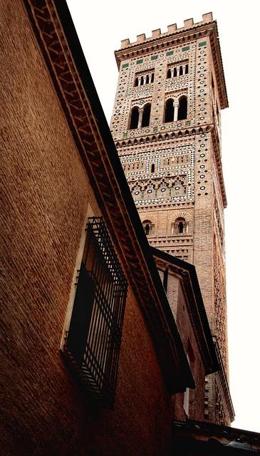 Mudéjar tower. Torre de La Magdalena, Zaragoza