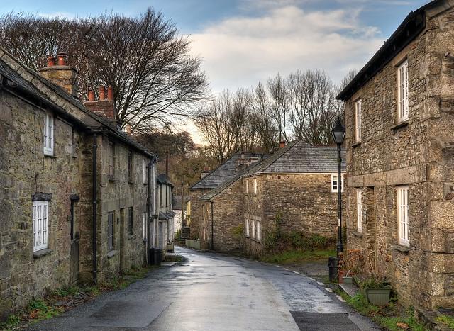 Village street, Altarnun, Bodmin Moor, Cornwall
