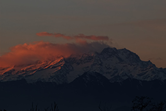 Monterosa al tramonto