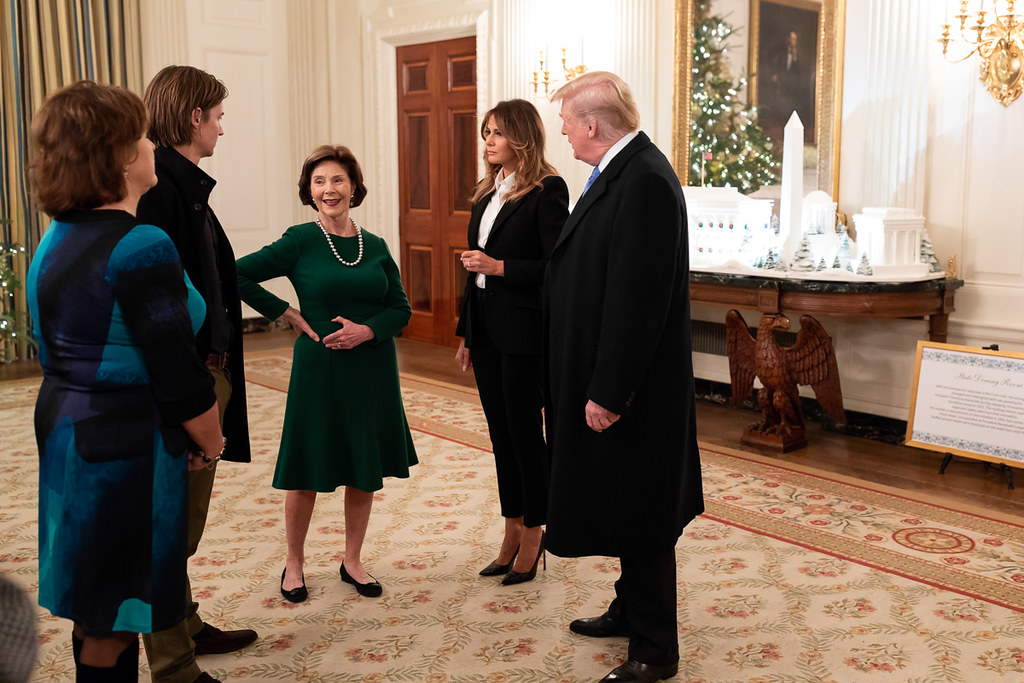 President Donald J Trump And First Lady Melania Trump Ta