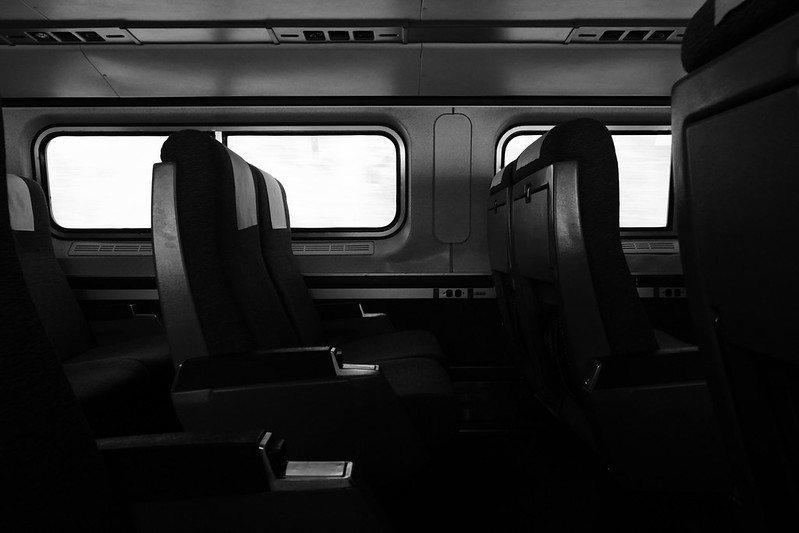 An empty train