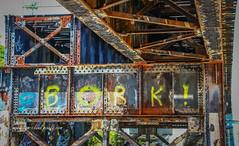 Rusty Steel Graffiti