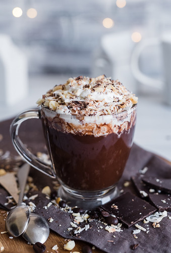 Boozy Hawaiian Mocha Coconut Hot Chocolate www.pineappleandcoconut.com | by PineappleAndCoconut