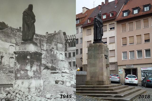 Albrecht Dürer statue before & after