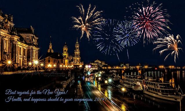 Prosit Neujahr   Happy New Year, Bonne Année, Buon Capodanno