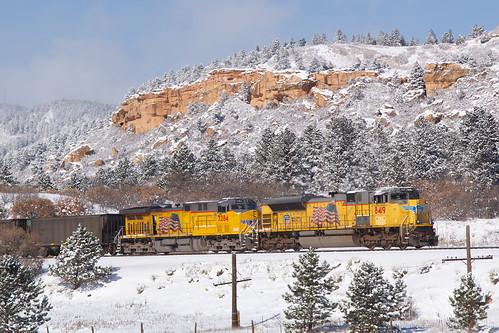 up unionpacific up8419 emd sd70ace palmerlake jointline csux train railroad