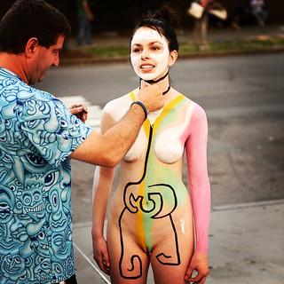 Body Paint Outside