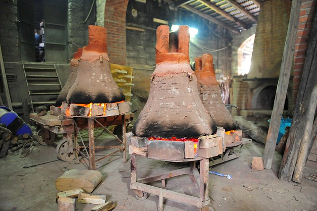 Foundry of bronze bells, Burgio, Sicily, 018