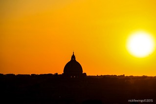 St. Peter's Basilica Dome at Sunset, Vatican City | by Nick Fewings 5 Million Views