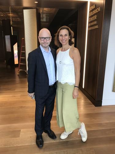 Hephzibah Rudofsky with Stephen Smith, executive director of the USC Shoah Foundation, Los Angeles, USA, September 2018 | by Surviving The Holocaust