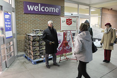 Rep. Smith Bell Ringing for the Salvation Army at Stop & Shop