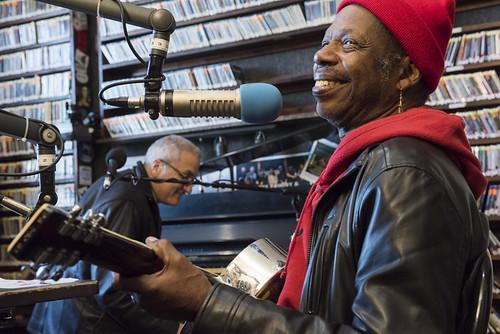 Walter Wolfman Washington and Joe Krown at WWOZ's 38th birthday - 12.4.18. Photo by Ryan Hodgson-Rigsbee rhrphoto.com.