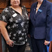 Library director, Maricela DeLeon andState Librarian Beverly Cain. Beverly, Julia Ward, and Bill Morris traveled to Northwest Ohio in August to meet former State Library Board Member, John Myles, for a tour of four public libraries and the Museum of Fulton County.