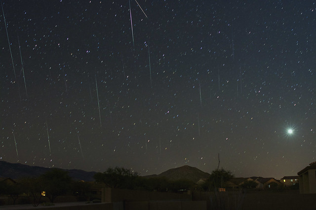Geminids Meteors (Stacked) (Explored)