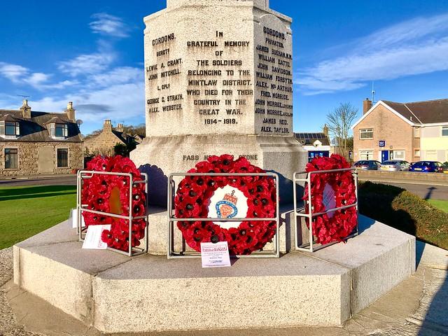 War Memorial - Mintlaw Aberdeenshire Scotland - 2018