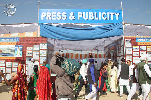 A view of Press Camp during 71st Annual Sant Samagam