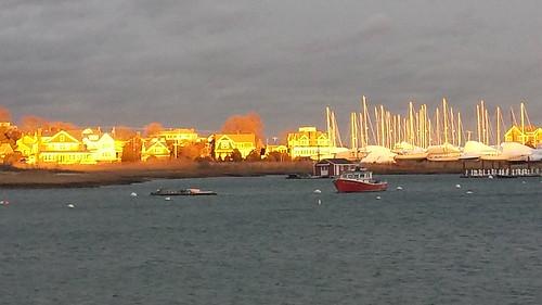 scituate southshore massachusetts harbor boats sundown atlantic ocean sea saltwater