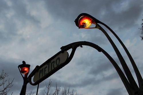 Entrada Art Nouveau del Metro Bellas Artes